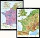 France et Benelux - physique / politique
