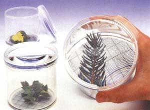 Flaschenlupe mit Millimeter-Gitter