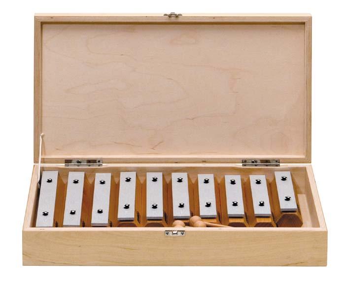 Klangbausteine aus Buche in Holzbox