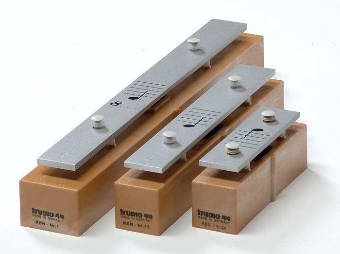 Klangbausteine aus Aluminium