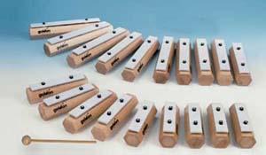 Klangbausteine aus Buche - Einzeltöne