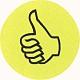 Wertungssymbol Daumen