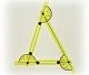 Verstellbares Dreieck mit drei Winkelmessern
