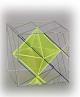 Oktaeder in Hexaeder mit farbigen Projektionslinien