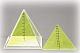 Quadratpyramide zwei entnehmbare Schnitte