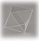 Oktaeder, allseitig geschlossen, glasklar