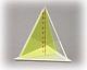 3-seitige Pyramide mit entnehmbarem Schnitt