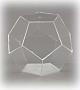 Dodekaeder, allseitig geschlossen, glasklar