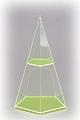 5-seitige Pyramide mit waagerechtem Schnitt