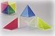 Würfel, zerlegbar in drei Pyramiden
