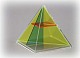 Quadratpyramide mit drei entnehmbaren Schnitten