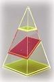 4-seitige Pyramide, zerlegbar
