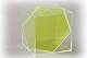 Würfel mit sechseckiger Schnittfläche