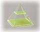 Quadratpyramide mit waagerechtem Schnitt