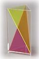 3-seitiges Prisma mit Diagonalschnitt