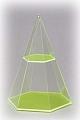 6-seitige Pyramide mit waagerechtem Schnitt