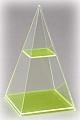 4-seitige Pyramide mit waagerechtem Schnitt