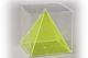 Würfel mit gleichseitiger Innenpyramide