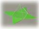 Quadratpyramide mit Oberflächennetz