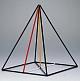 Kantenmodell quadratische Pyramide (farbig)