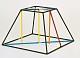 Kantenmodell Quadratischer Pyramidenstumpf (farbig)
