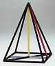 Kantenmodell Quadratische Pyramidenspitze (farbig)