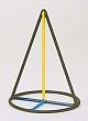 Kantenmodell Kegelspitze (farbig)