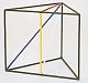 Kantenmodell Dreieckprisma (farbig)