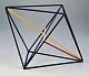 Kantenmodell Oktaeder (farbig)