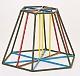 Kantenmodell Pyramidenstumpf sechseck (farbig)l