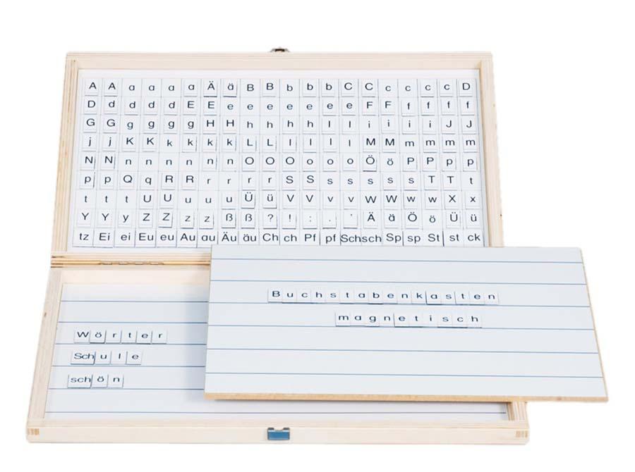 Lesekasten - Magnetischer Buchstabenkasten
