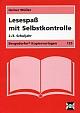 Bergedorfer Kopiervorlagen - Lesespaß mit Selbstkontrolle