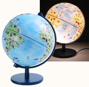 kinderglobus mit beleuchtung und tierlexikon 5306965 sachkunde globen. Black Bedroom Furniture Sets. Home Design Ideas