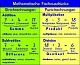 Mathematische Fachausdrücke