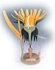 Löwenzahn - halb Blütenstand - Pflanzenmodell