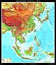 Südostasien, China und Japan - physisch