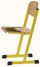 Schülerstuhl mit T-Fuß - offener Sitzträger