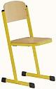 Schülerstuhl mit T-Fuß - geschlossener Sitzträger