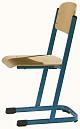 Schülerstuhl mit U-Fuß - offener Sitzträger