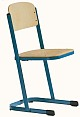 Schülerstuhl mit U-Fuß - geschlossener Sitzträger