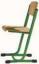 Schülerstuhl mit Doppel-U-Fuß - offener Sitzträger