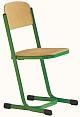 Schülerstuhl mit Doppel-U-Fuß - geschlossener Sitzträger