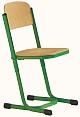 Schülerstuhl höhenverstellbar mit Doppel-U-Fuß - geschlossener Sitzträger