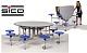 8-er-Tisch-Sitzkombination oval