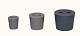 Gummistopfen, grau, mit 2 Bohrungen