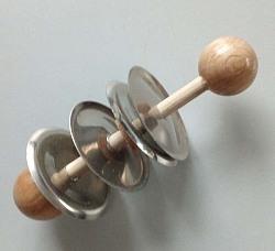 Rhythmusklapper mit 2 Paar Schellen