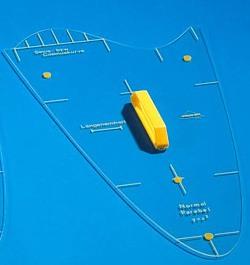 Parabelschablone - Sinuskurve außen