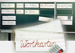 Wortkarten - 12 cm hoch liniert