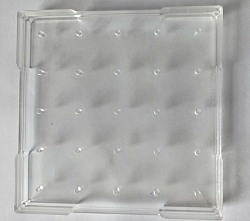 Geobrett - 15 x 15 cm transparent