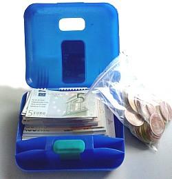EURO-Geldsatz einseitig bedruckt